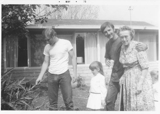 Ottie Pa and Rick 1970