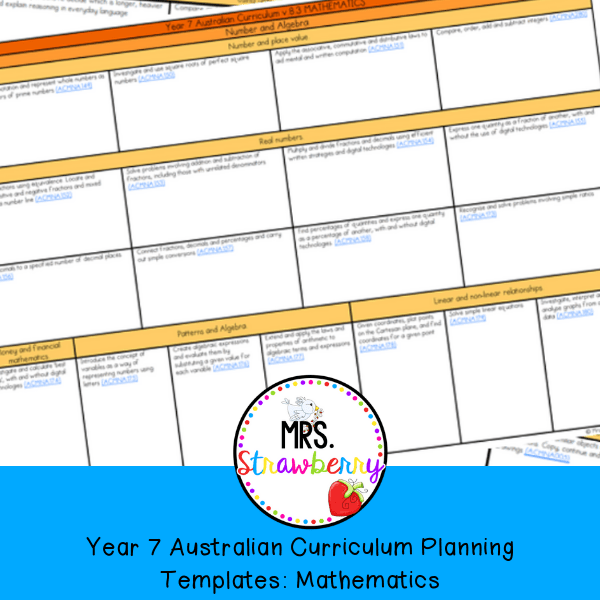 Year 6 Australian Curriculum Planning Templates: English - Mrs