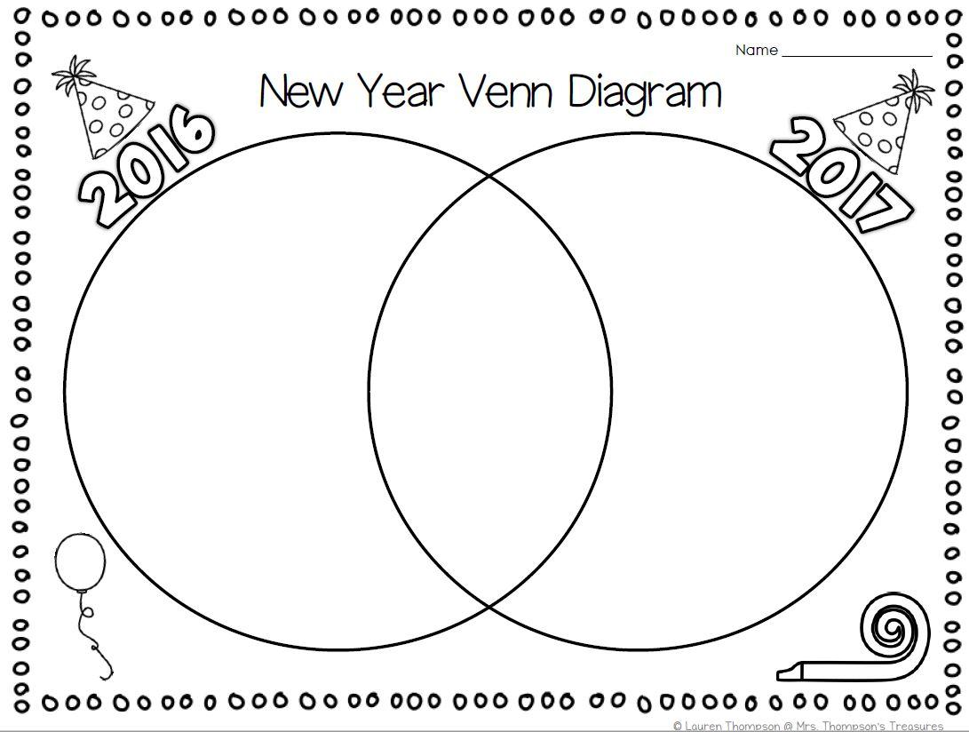 Free New Year Venn Diagram Activity