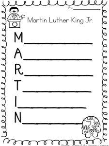 Martin Luther King Jr Free Activities Mrs Thompson S