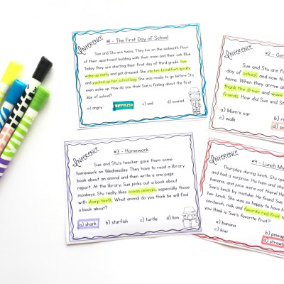 Free Inference Task Cards