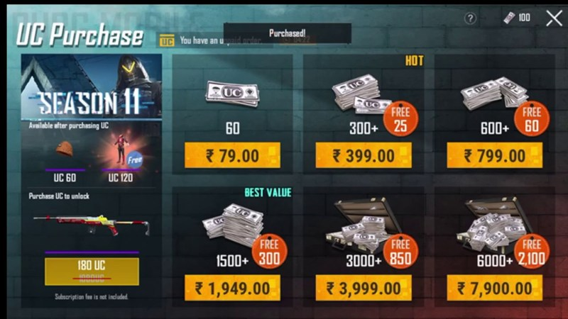 How to purchase UC in PUBG mobile after ban