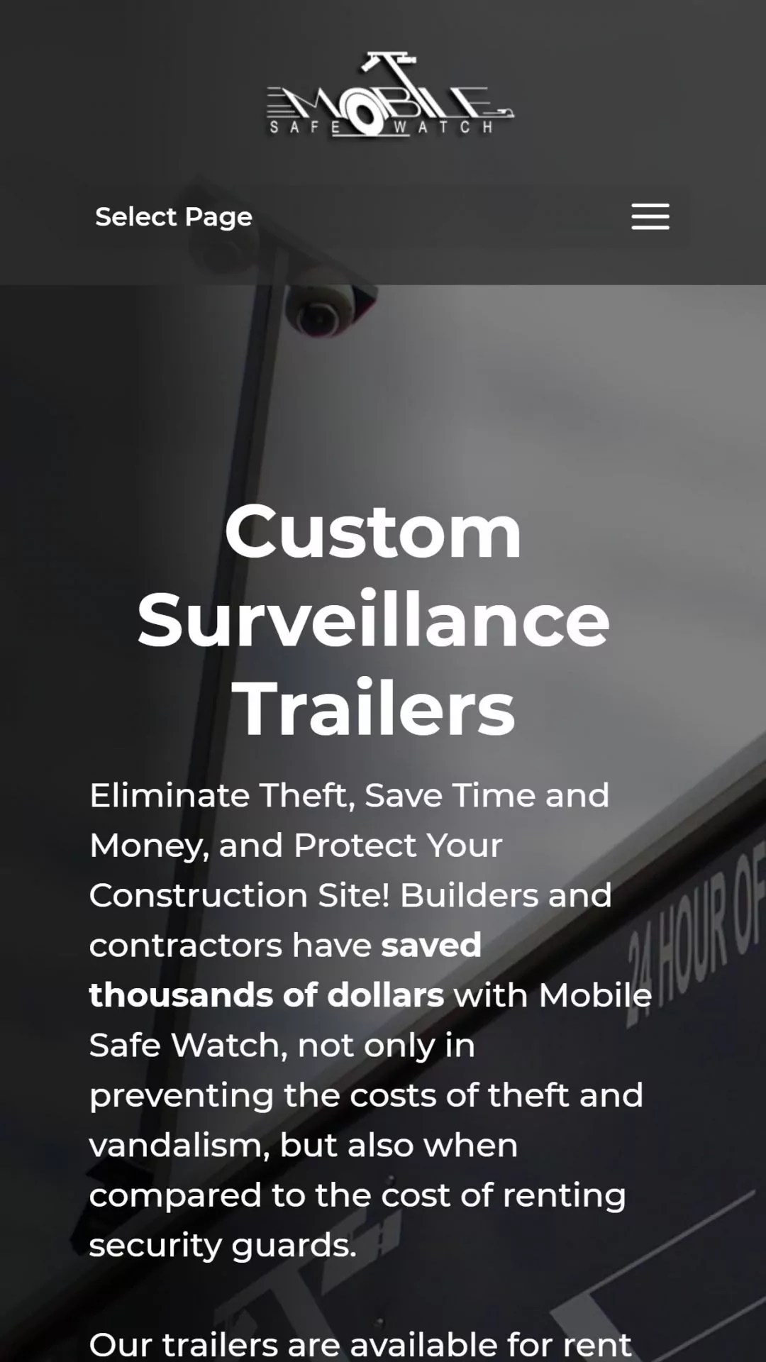 Mobile Safe Watch (Brooks, GA) Mobile Web Design