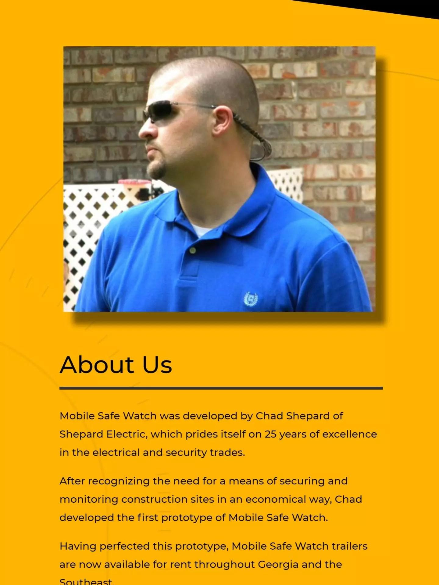 Mobile Safe Watch (Brooks, GA) Tablet Web Design