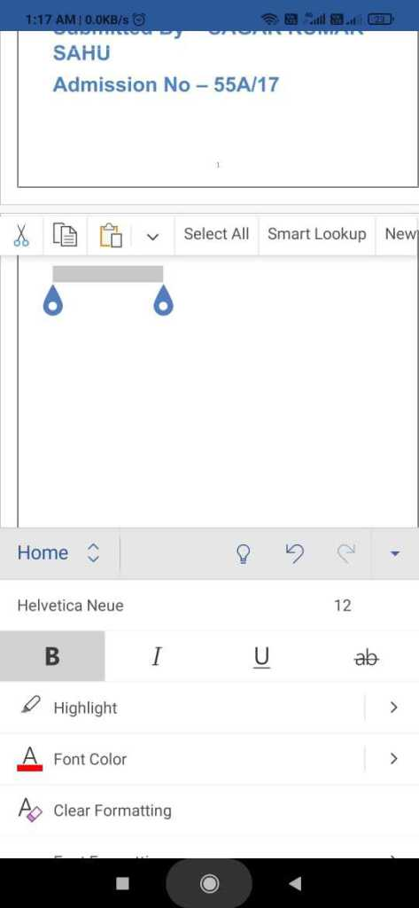 delete a blank page in Word in phone