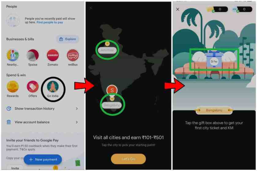 How to play this game & collect all the Google Pay Go India offer City Tickets?