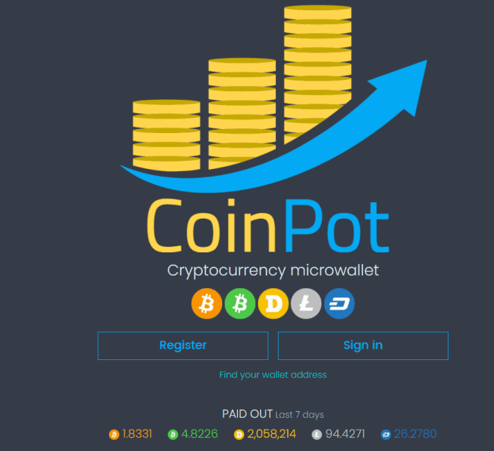 Coinpot cryptocurrency wallet