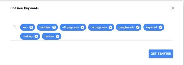 Multiple Keyword in google keyword planner
