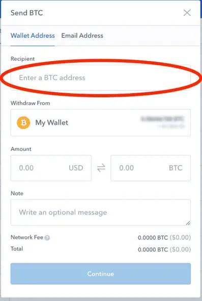 Bitcoin Send Window