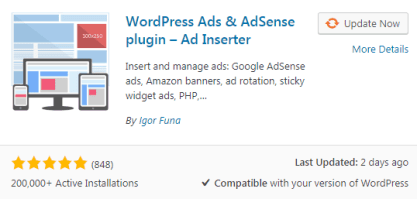 Ad Inserter Best free wordPress Plugin