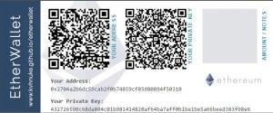 Ethereum Paper Wallet