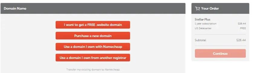 Domain Purchase NnameCheap