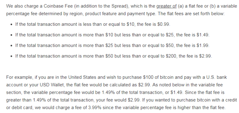 CoinBase Transation fees