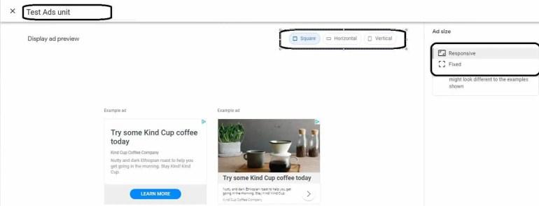 Create Manual Ad Unit in Google Adsense