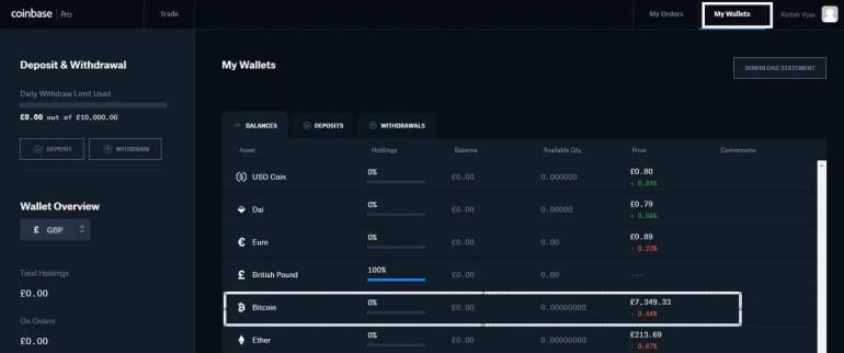GDEX Wallet Bitcoin