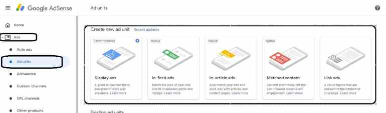 How to Create Google Adsense Ads Unit