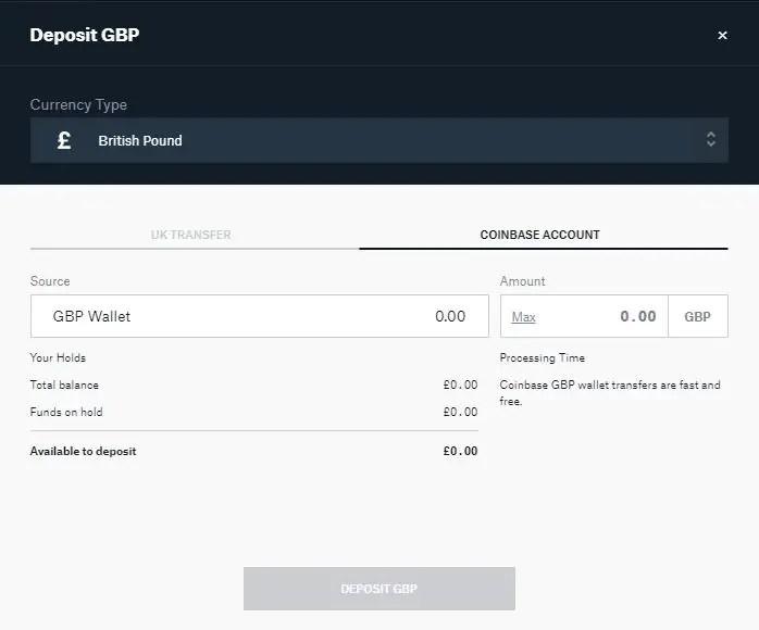 Coinbase to GDEX Transfer