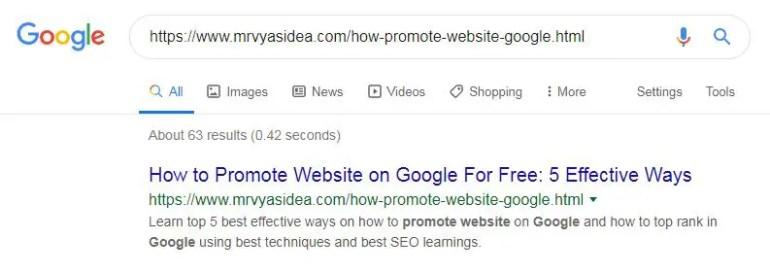 Permalink in Google
