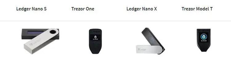 Trezor vs Ledger Connectivity feature