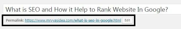 What is a Slug in WordPress permalink