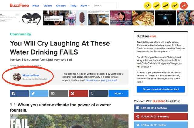 MrWaterGeek on BuzzFeed