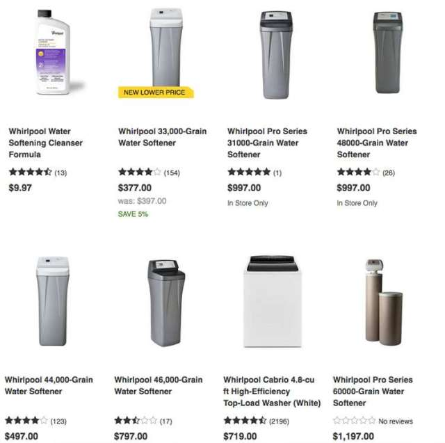 Whirlpool Water Softener Prices