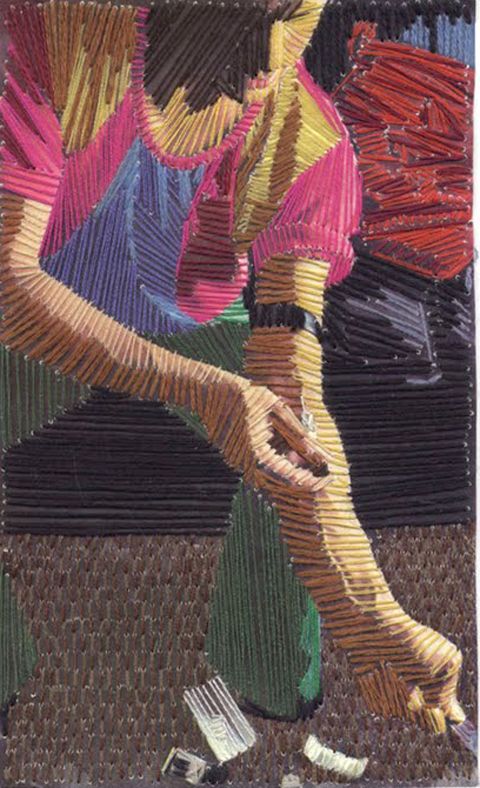 Cecile Jarsaillon's Hand Embroidered Images