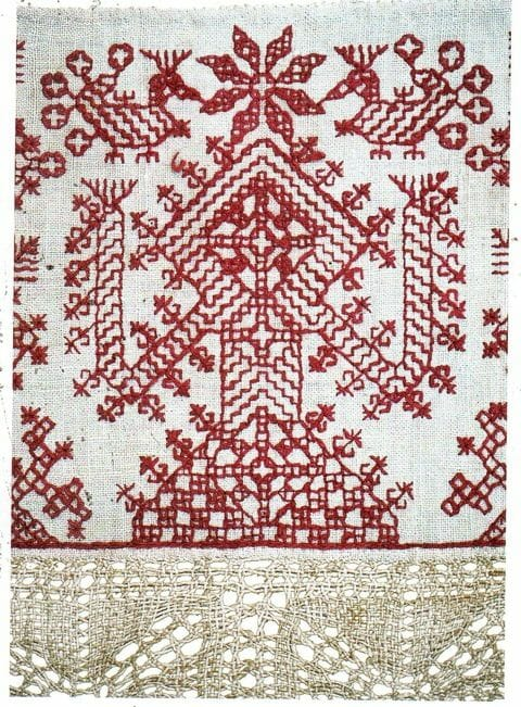 Redwork Ritual Cloth from Tunisia