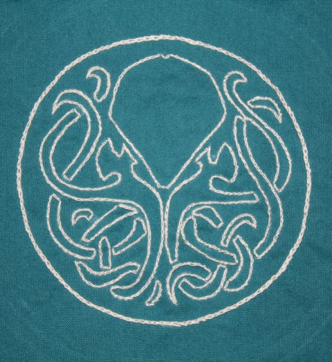 Kimstitch's Celtic Cthulhu Embroidery