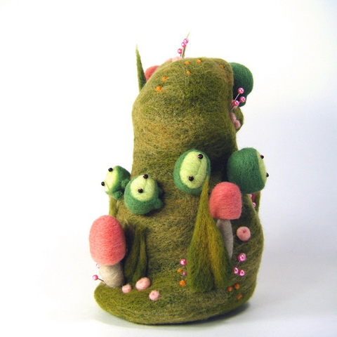 Kit Lane - Tower of Peas - Needle Felting