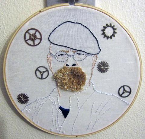 CraftyOctober's Jamie Hyneman hand embroidery