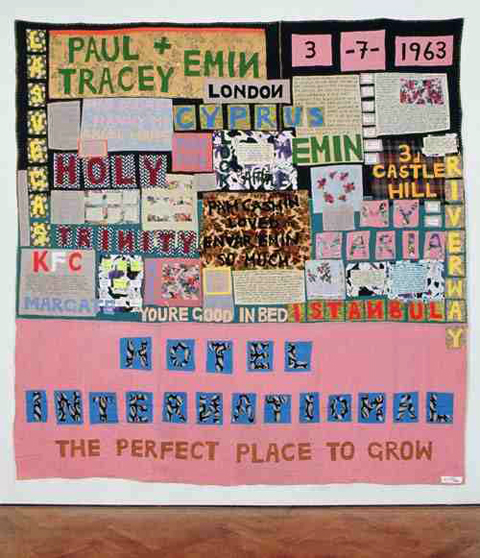 Tracey Emin - Hotel International appliqued blanket