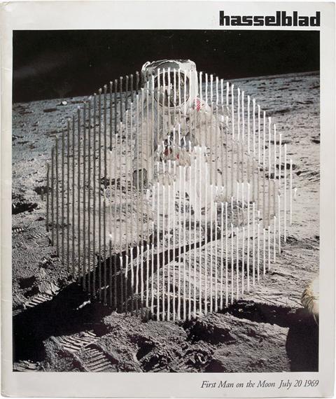Shaun Kardinal - Moon No 1 - embroidered postcard