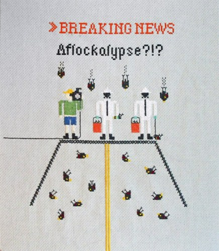 Emily Roose - Aflockalypse cross stitch