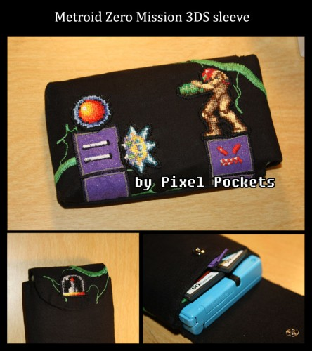 Metroid Zero Mission 3DS sleeve by eternalrequiem