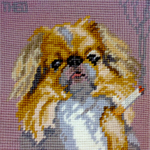 Theo Humphries - Japanese Spaniel from the Smoking Dogs collection