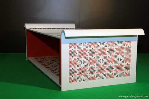 Embroidered furniture by Yaroslav Galant