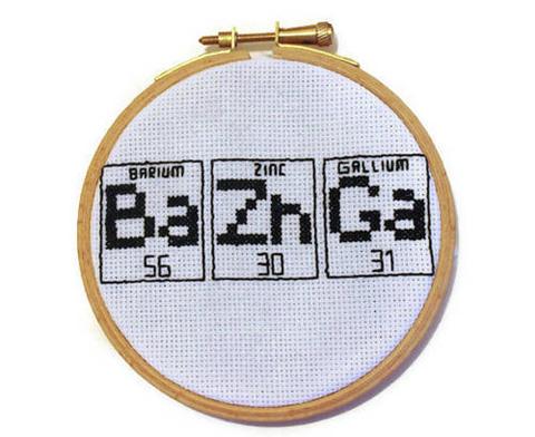Craftster Pick of the Week – RatherUnseamly's Bazinga Cross Stitch