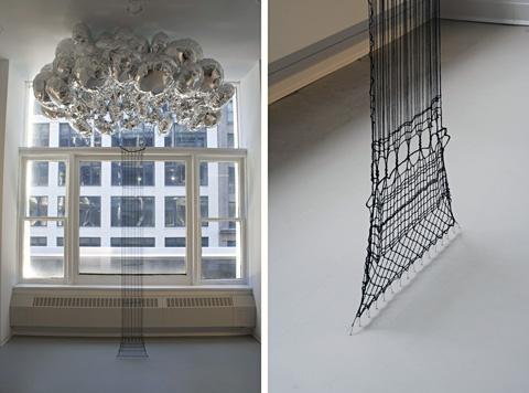 Olivia Valentine - Punto in Aria (Pilaster) - lacework installation