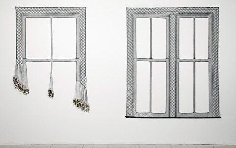 Olivia Valentine - Guest Room at the Drake - lacework installation