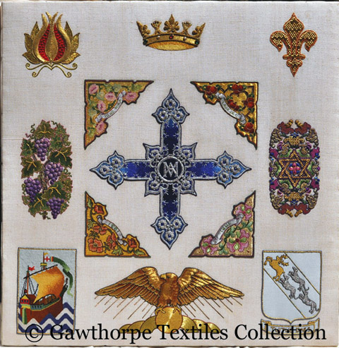 Beryl Dean - Ecclesiastical Sampler - Reproduced with permission of Gawthorpe Textiles Collection