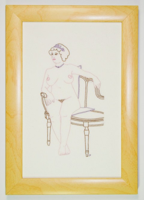 Judy Plum's Seated Lady Hand Embroidery