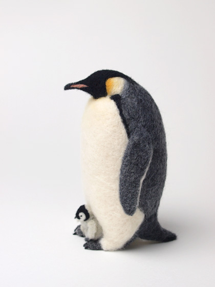 Miki Ichiyama needle felted Emperor Penguin