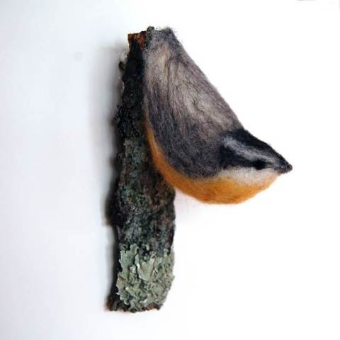 KJE Felties needle felted Nuthatch