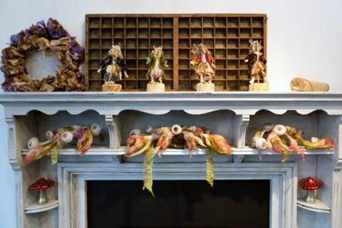 Sue Walton Woodland Boudoir - Fireplace