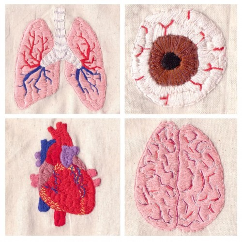 Hannah Hill's Anatomical Hand Embroidery