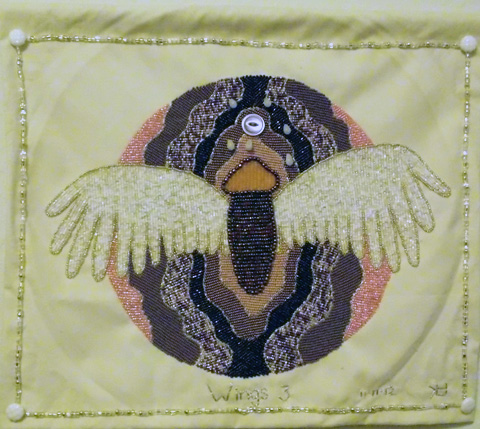 Lorrie Herranz, Wings 3 beaded embroidery
