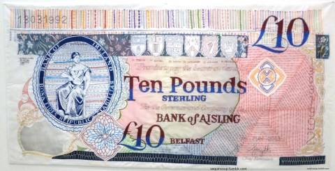Aisling Smyth's Embroidered Banknote