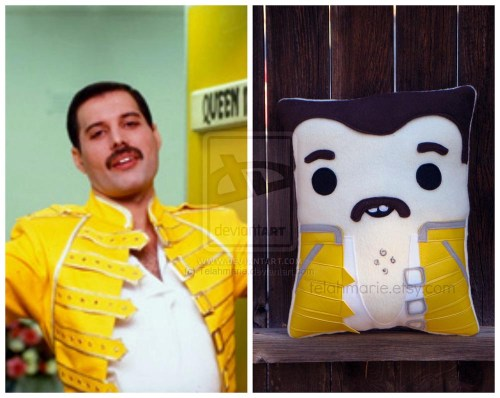 Freddy Mercury pillow by Telahmarie