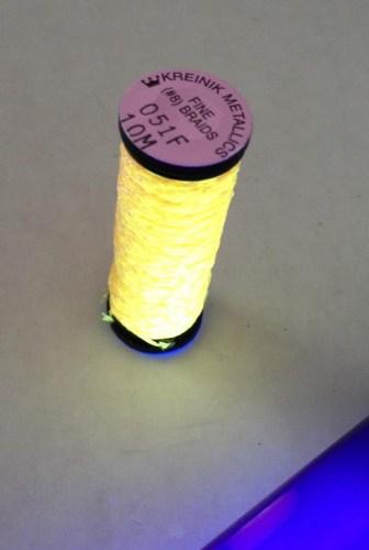 Set up a black light or ultraviolet light for a longer glow life.